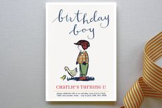 Farm Boy Children's Birthday Party Invitations by Krista Messer at minted.com