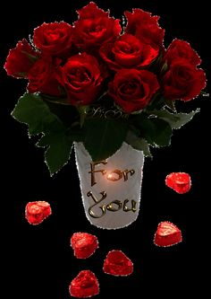 Red Roses For You love flowers animated roses red roses valentine's day for . Flowers Gif, Beautiful Rose Flowers, Beautiful Gif, Love Rose, Love Flowers, Love You Images, Love Pictures, Roses Valentines Day, Happy Valentines Day