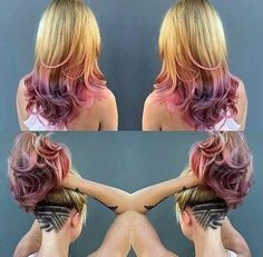 Cute Hair Tattoo and color