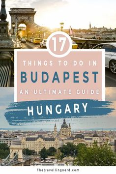 Need travel inspo for Budapest? Here is a guide that will give you 17 ideas of things to do in Budapest, Hungary. This travel guide covers what to do, Itinerary ideas, and must-try food. Whether you are visiting in the winter or summer Budapest is a great bucket list destination with amazing culture and chilled out vibes (especially the nightlife). Don't miss out on the famous thermal baths and ruin pubs. | things to do in Budapest | Budapest Travel | Hungary Travel #budapest #hungary… Travel Route, New Travel, Budapest Travel Guide, Budapest Things To Do In, Hungary Travel, Travel Inspiration, Travel Ideas, Travel Tips, Travel Around Europe