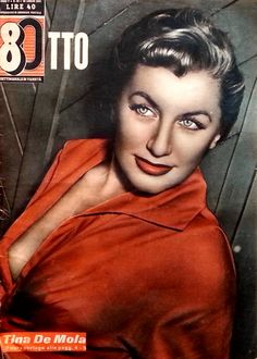 "Tina De Mola. Cover of Italian pin-up weekly magazine ""Otto"" (""Eight""), 28th July 1953."