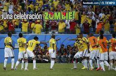 Mi selección Colombia #mundial 2014 #Baile de celebración