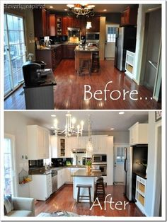 How to Save Money on Home Decor • Ideas & Tutorials! Including this kitchen update from 'cleverly inspired'.