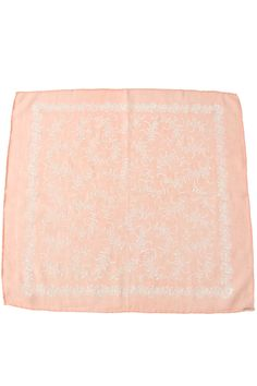vintage ascher scarf peach with white floral fern print ++ tallulah & hope