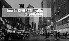 So you create an awesome article, it's now time to generate traffic to your blog… The question is how do you do it? @dexterroona #trafficgeneration