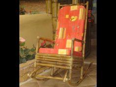 Muebles de Bambú para terraza y piscina.
