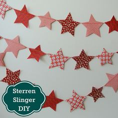 Sew Natural Blog: DIY Tutorial Fabric Star Garland