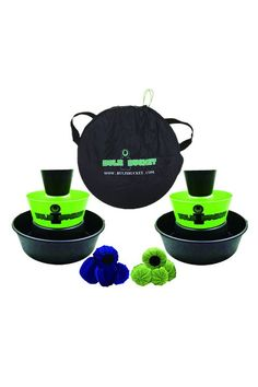 Take cornhole to the next level with this bucket game. Tailgate Games, Tailgating, Camping Toys, Cornhole, Backyard Toys, Cool Gifts For Kids, Toss Game, Travel Toys, Best Kids Toys