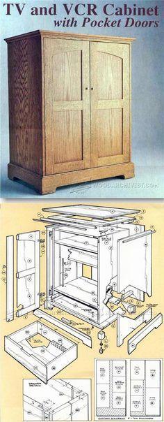 TV Cabinet Plans - Furniture Plans and Projects   WoodArchivist.com