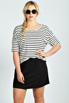 Sally Ponte Mini Skirt at boohoo.com