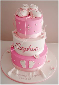 Booties Christening Cake, Christening Cakes Sydney, Christening Cake Designs, Communion Cakes, Baptism Cakes, Baby Christening Cake, Baby Booties, Cake for twins