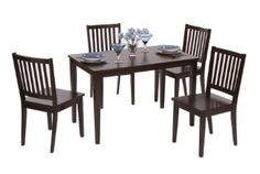 TMS 5 Piece Shaker Dining Set, Espresso - Click pics for price <3