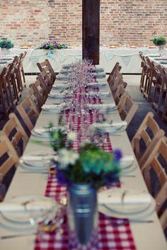 A Rustic, Picnic Feel Wedding on a Farm | Whimsical Wonderland Weddings