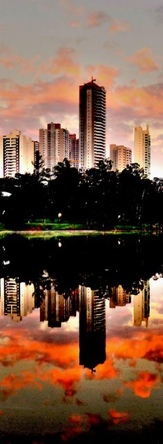 City Londrina - Brazil - The city of Londrina is located in southern Brazil, in the state of Paraná, has around 530,000 inhabitants, was colonized by the British in the 1930s, its soil is highly fertile, red, was once considered the world capital of coffee. Londrina is a city with many constructions of buildings and apartment buildings, the city has several lakes and preserves their valley bottoms.