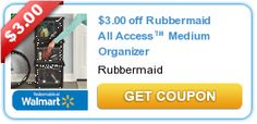 Print NEW $3 Rubbermaid All Access Medium Organizer Coupon!