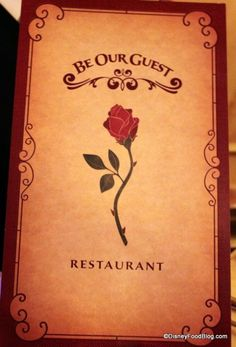 """The """"Everything On the Menu!!"""" Dinner Review of the Be Our Guest Restaurant in New Fantasyland at Walt Disney World's Magic Kingdom."""
