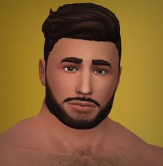 The Cain male hair by XLD