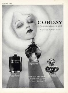 Collectibles 1937 Corday Orchidee Bleue Toujours Moi Perfume Bottles Paris Ad