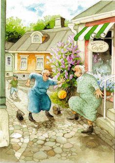 Soccer Aunties by Inge Look