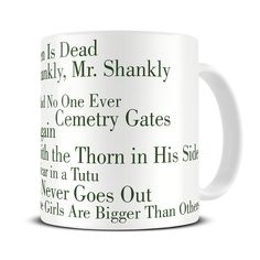 MG290 Magoo The Queen is Dead Album Typography Coffee Mug - the smiths mug - morrissey