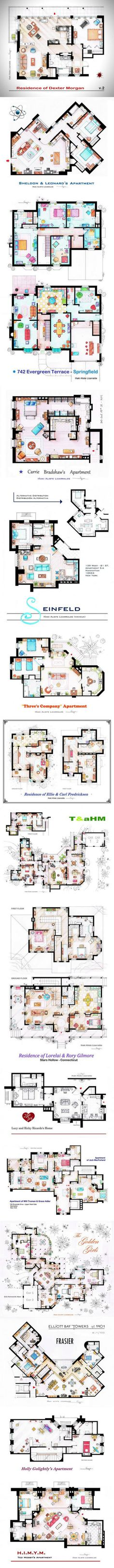 15 Famous TV Show Home Floor Plans
