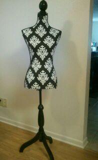 Damask decorative dress form