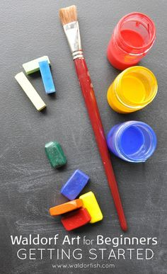 Waldorf Art for Beginners | online course | homeschool art lessons | Waldorf inspired art | watercolor painting | block crayons | chalk drawing | Waldorf art how to | Waldorf art supplies | RE-PIN this to save it for later!