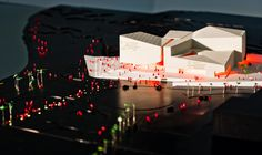Architectural model for Henning Larsens proposal for a new concert hall in Lanzarote.