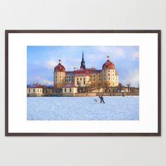 Cinderella´s fairytale castle  Framed Art Print #moritzburg, #fairytale, #cinderella, #3haselnüsse #schloss #society6, #originalaufnahme, #utart