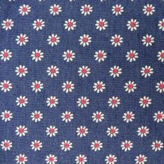 http://www.craftine.com/tissus Tissu Jeans Lycra Bleu Fleuris Roses et Blanches x10cm