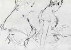 "Sargent studies | john singer sargent two studies for madame x"" Art for sale"