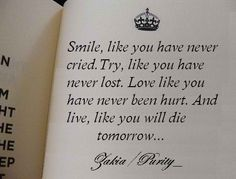 smile. try. love. and ultimately live.