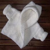 Baby Hooded Wrap Cardigan - via @Craftsy
