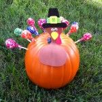 DIY Tootsie Pop Turkey Pumpkin