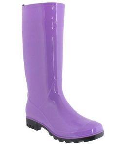 Amazon.com: Billito Shiny Solid Ladies Jelly Rain Boot Turquoise 7: Shoes