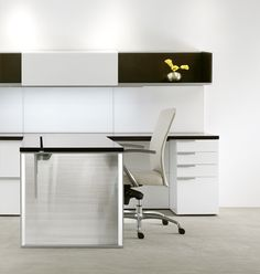 Office Furniture:  Silea Wood Office Furniture Casegoods Gunlocke