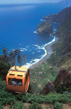 Extreme cable car riding - Madeira Island, Portugal