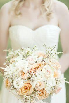 With cotton bolls & eucalyptus Cream Wedding, Our Wedding, Wedding Bouquets, Wedding Flowers, Peach Bouquet, Wedding Beauty, Wedding Bells, Wedding Inspiration, Bridesmaid