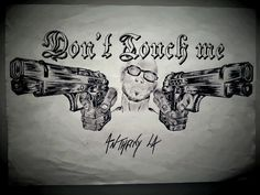 #skull#tattoo#tatouages#ink#pencil #blackandgrey #sketching#gun