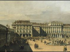 Bernardo Bellotto, called Canaletto, 1722-1780 'The Imperial Summer residence of Schönbrunn' - detail 1759/1761 Kunsthistorisches Museum Wie...