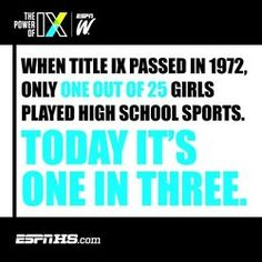 Title IX - the 40th anniversary of Title IX is coming up on June 23!