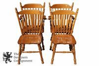 4 Vintage Cochrane Furniture Bay Colony Maple Slat Back Dining Chairs Country Maple Chair Dining Chairs Chair