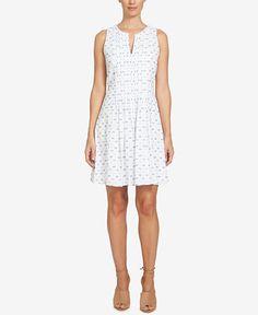 139.00$  Watch now - http://viodr.justgood.pw/vig/item.php?t=33ldjk23951 - Cotton Emroidered Fit & Flare Dress 139.00$