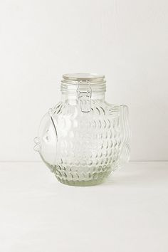 Glass Fins Canister  #anthropologie