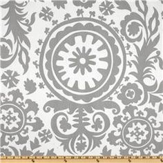 Premier Prints Twill Suzani Storm Grey  Item Number: UK-731  Our Price: $7.98 per Yard