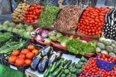 healthy rows of non-starchy vegetables for a candia diet