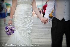 Purple bouquet | boardwalk wedding