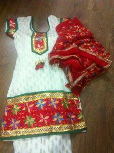 Punjabi Suit  #attitude #suitsalwar #punjabi #newdesigns #looks✌ For More Follow Pinterest : @reeetk516
