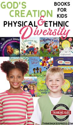 God's Creation | Physical and Ethnic Diversity Books for Kids  God's creation is diverse on purpose! Teach your family about God's design with 10 great physical and ethnic diversity books for kids. Best Children Books, Books For Teens, Parenting Articles, Parenting Books, Homeschool Kindergarten, Homeschool Curriculum, Bible Lessons, Lessons For Kids, Ethnic Diversity