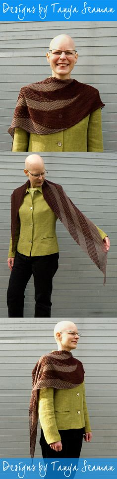 This shawl -- hooded or not -- is a great little addition for the spring and fall when there's a slight chill in the air, or in the summer when the air conditioning is too high. Spring And Fall, Conditioning, Leg Warmers, My Hair, Hoods, Shawl, Pattern, Summer, How To Make